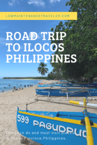 Ilocos road trip pin