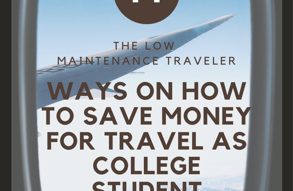 14 Ways on How to Save Money as College Student